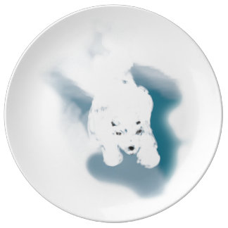 Juste ours assiette en porcelaine