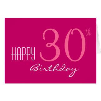 Juste pour son 30ème anniversaire carte de vœux