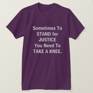 "Justice ""prenez genou"" t-shirt"