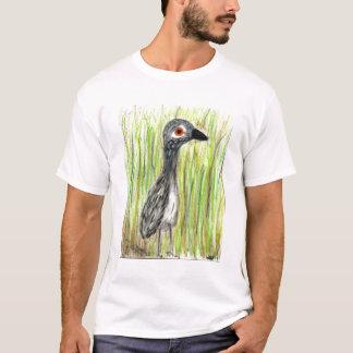juvey de héron de grand bleu dans les roseaux t-shirt
