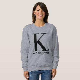 K le sweatshirt gris de quelque femmes