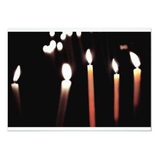 kaarsen dubbele kleur 12,7x17,8 uitnodiging kaart