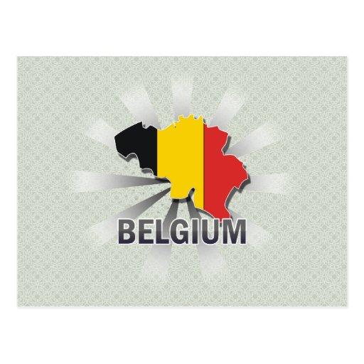 Kaart 2.0 van de Vlag van België Wens Kaart