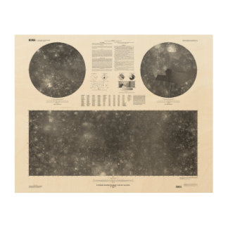 Kaart USGS van de Maan Callisto van Jupiter Hout Afdruk