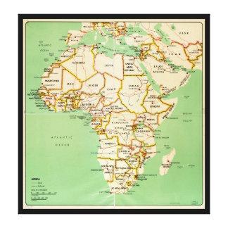 Kaart van Afrika (1966) Canvas Afdruk