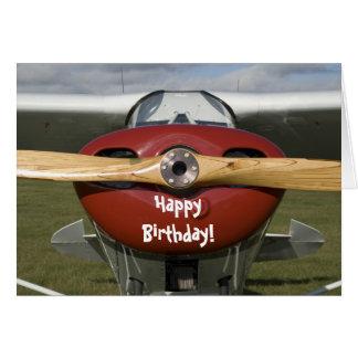 Kaart van de Verjaardag van de piloot de Gelukkige
