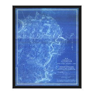 Kaart van het Slagveld van Antietam (1898) Canvas Afdruk