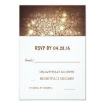 Kaarten van het Huwelijk RSVP van de Lichten van 8,9x12,7 Uitnodiging Kaart