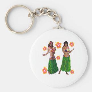 kaiko de danse polynésienne porte-clés