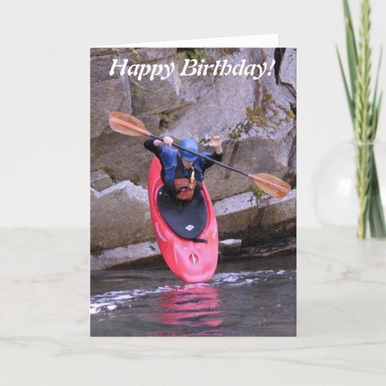 Kajak-ER die de kaart van de duikVerjaardag nemen | Zazzle.be