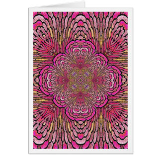 Kaléidoscope dans le carte pour notes rose de