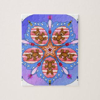 Kaléidoscope des ours et des abeilles puzzle