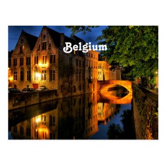 Kanaal in België Wenskaart
