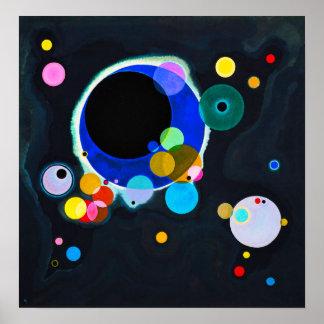 Kandinsky het Poster van Verscheidene Cirkels