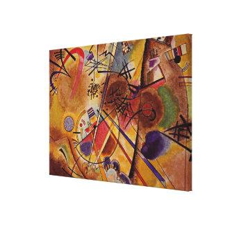 Kandinsky - Kleine Droom in Rood Canvas Afdrukken