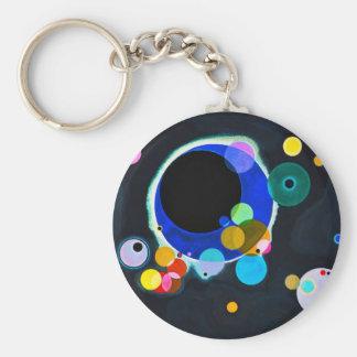 Kandinsky porte - clé de plusieurs cercles porte-clé rond
