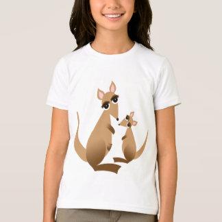 Kangourou et Joey drôles mignons T-shirt