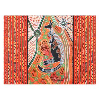 Kangourou rêvant la nappe indigène d'art