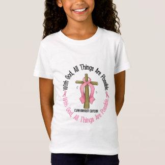 Kanker van de borst MET KRUIS 1 van de GOD T Shirt