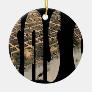 kansascity1869 ornement rond en céramique