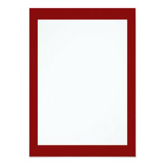 Kastanjebruine Stevige Kleur 12,7x17,8 Uitnodiging Kaart