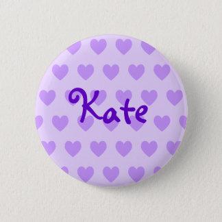 Kate dans le pourpre badge rond 5 cm