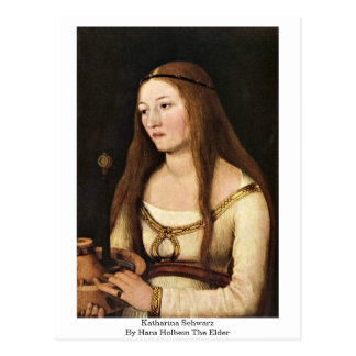 Katharina Schwarz par Hans Holbein l'aîné Carte Postale