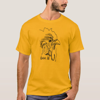 Kauai, T-shirt du coq des hommes de HI