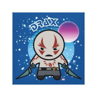Kawaii Drax dans l'espace Toile