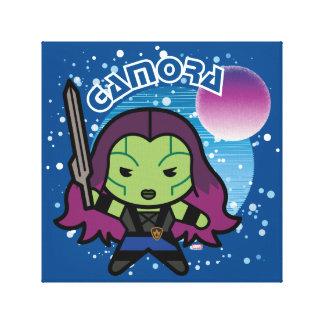 Kawaii Gamora dans l'espace Toile