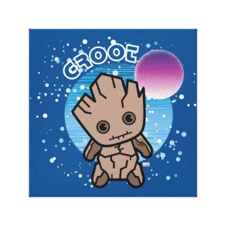 Kawaii Groot dans l'espace Toile