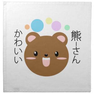 Kawaii/ours mignon serviettes de table