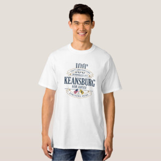 Keansburg, New Jersey 100th Anniv. T-shirt blanc