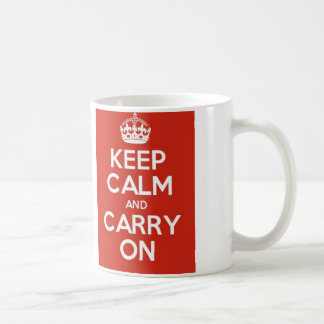 Keep Calm and carry on! Mug Blanc