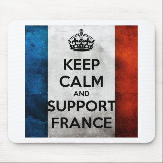 Keep Calm and Support France Tapis De Souris