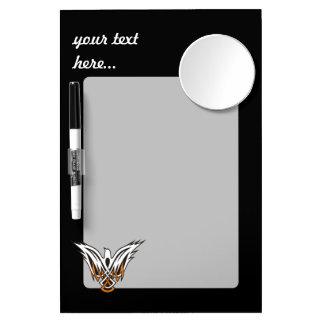 Keltische Vogel Whiteboard Met Spiegel