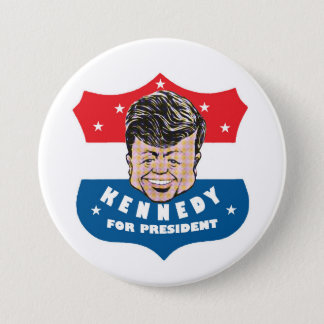 Kennedy pour le président badge rond 7,6 cm