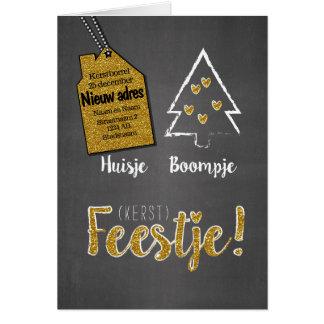 Kerst - Huisje Boompje (kerst) Feestje Briefkaarten 0