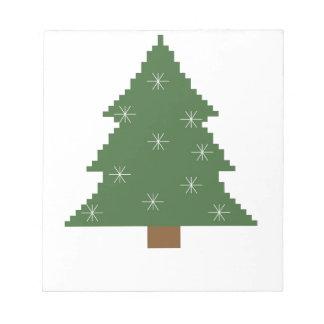 Kerstboom met sterren notitieblok