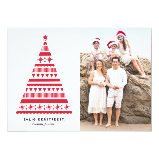Kerstboom vakantie fotokaart kaart