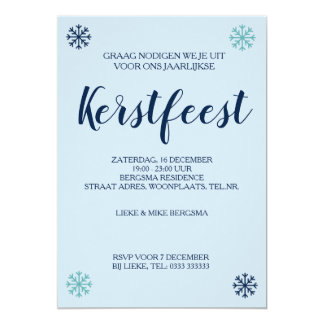 "Kerstfeest ""Holiday Party"" uitnodiging"