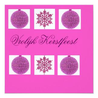 kerstkaart 13,3x13,3 vierkante uitnodiging kaart