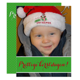 Kerstkaart met foto 10,8x13,9 uitnodiging kaart