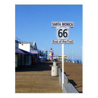 Kerstman Monica Route 66 Briefkaart! Briefkaart