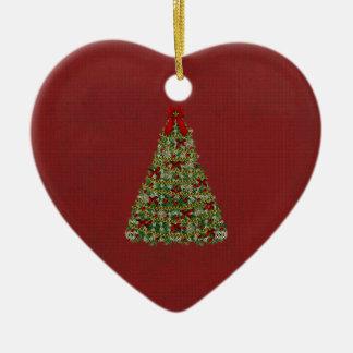 Kerstmis Keramisch Hart Ornament