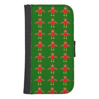 Kerstmis Robin Samsung Wallet Case Galaxy S4 Portefeuille Hoesje