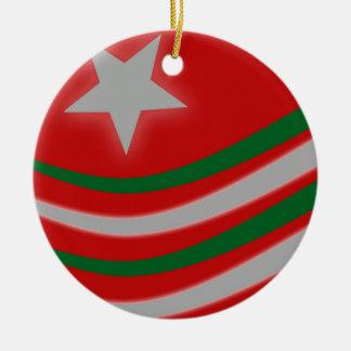 Kerstmis Rond Keramisch Ornament