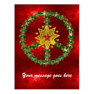 Kerstmis van de Ster van de vrede Briefkaart
