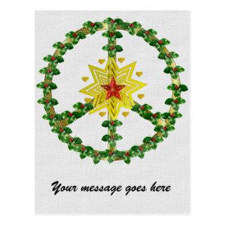 Kerstmis van de Ster van de vrede Wenskaarten