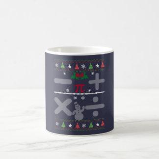 Kerstmis van de wiskunde koffiemok
